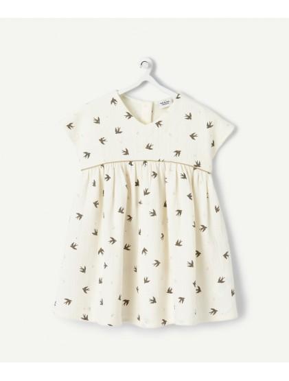 tao robe en coton reliéfée