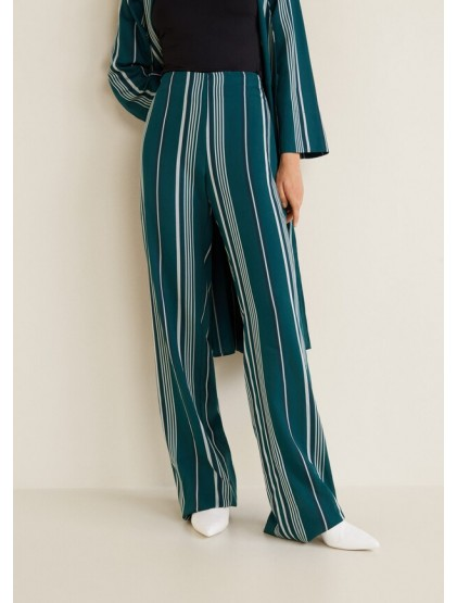 Mango Pantalon soft rayures