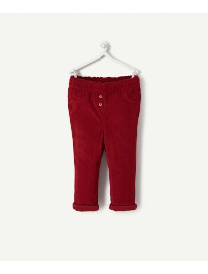 tao pantalon chino en velours bordeaux