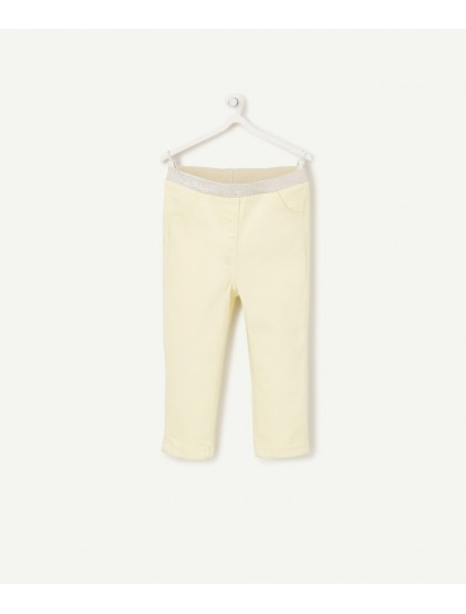 tao pantalon slim stretch jaune