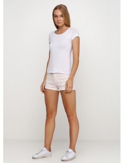 h&m short blanc-beige
