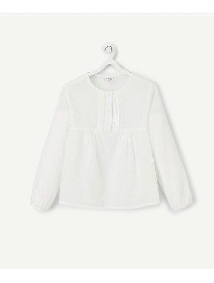 TAO BLOUSE BLANCHE MANCHES LONGUES