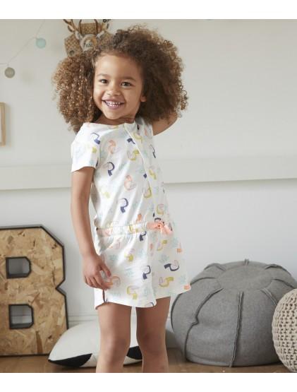 tao combinaison short pyjama à l'imprimé tropical
