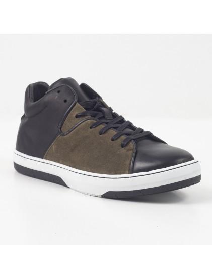 minelli basket kaki noir