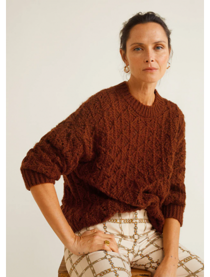 Mango Pull-over maille ajourée