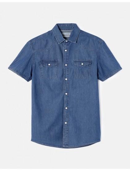 celio chemise slim denim léger