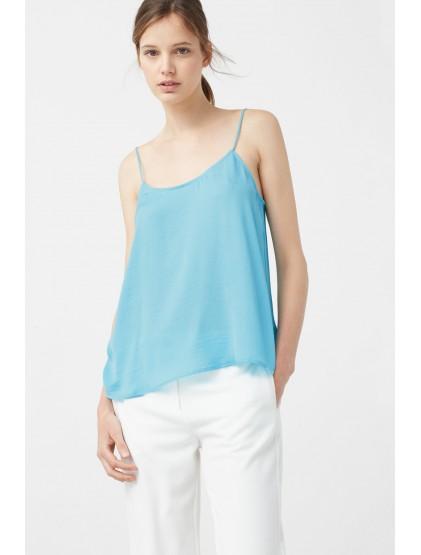 mango blouse femme turquoise