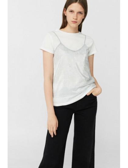 Mango T-shirt Femme Argent