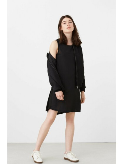 Mango Femmes Robe Noire
