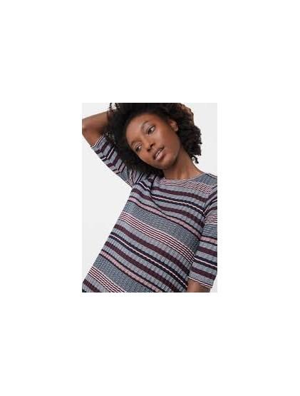 Mango Striped rib T-shirt