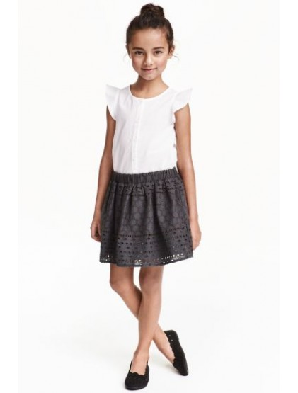 h&m Jupe en broderie anglaise