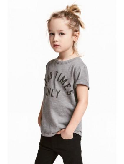 h&m T-shirt en jersey flammé