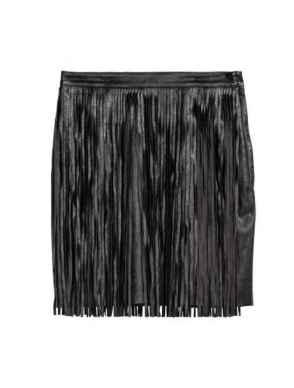 H&M Jupe courte à franges