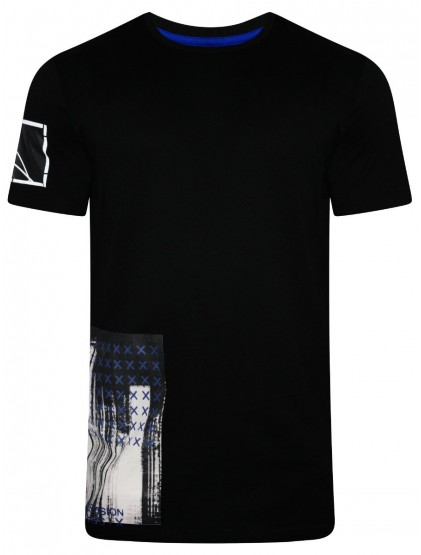 Celio-Originally French Black Round Neck T-Shirt