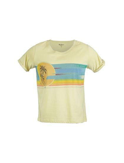 Pepe jeans T-shirt jaune EMMA