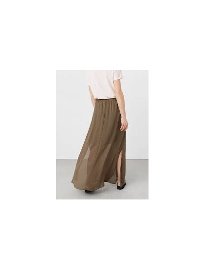 Mango Hem side slit skirt