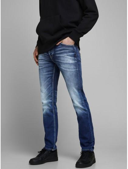 Jack & Jones indigo knit jeans a coupe slim/straight