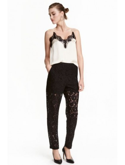 H&M Pantalon en dentelle