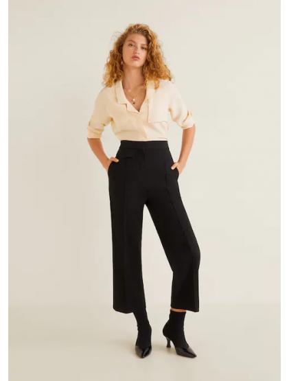 mango Pantalon costume pinces