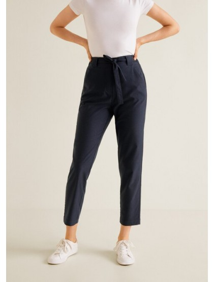 mango Pantalon de costume coton