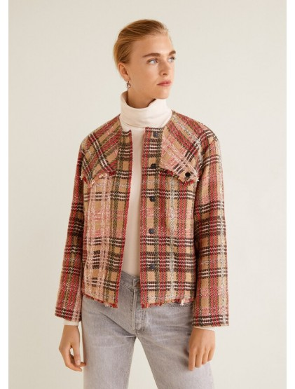 Mango Veste en tweed à poches