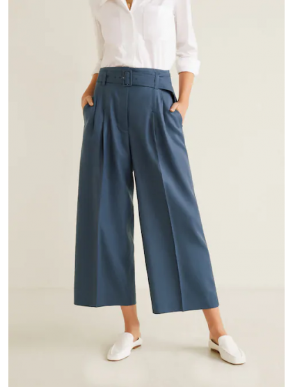 mango Pantalon évasé