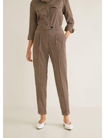 mango Pantalon de costume à carreaux
