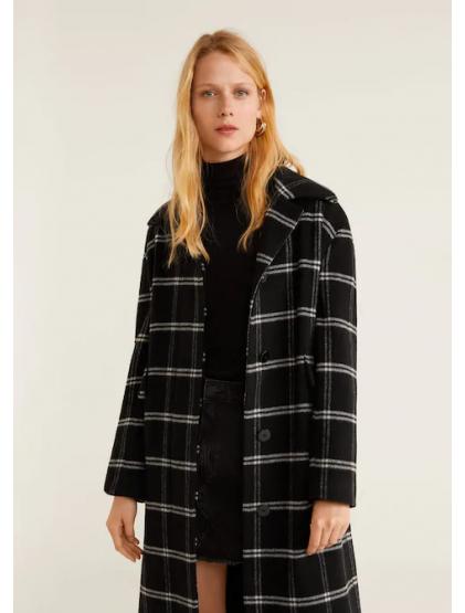 mango Manteau à carreaux en laine