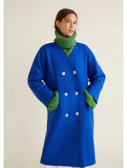 mango Manteau déstructuré laine vierge
